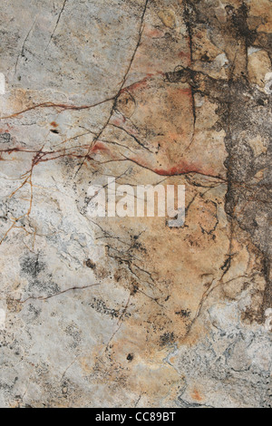 cracked quartzite rock background surface - Stock Photo