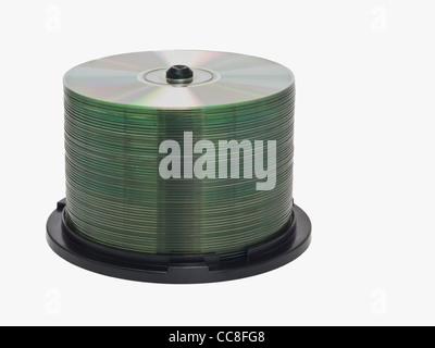 Detailansicht einer CD-Spindel | Detail photo of a CD-pack - Stock Photo