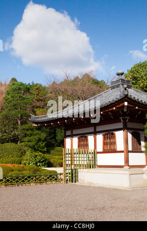 A small school building in the grounds of Ryoan-ji temple in Kyoto, Japan. - Stock Photo