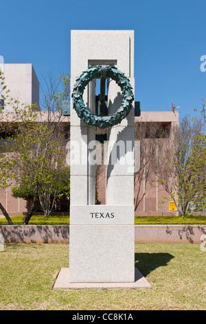 World War II Memorial, Austin, TX - Stock Photo