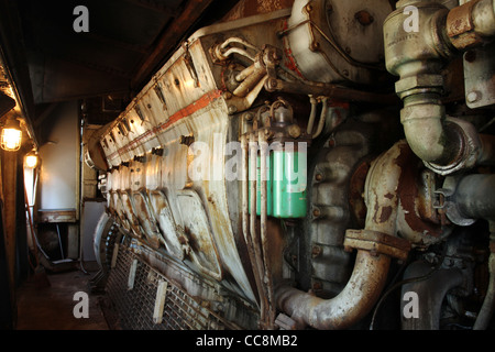 Locomotive Diesel Engine. Pennsylvania Railroad locomotive 5888. - Stock Photo