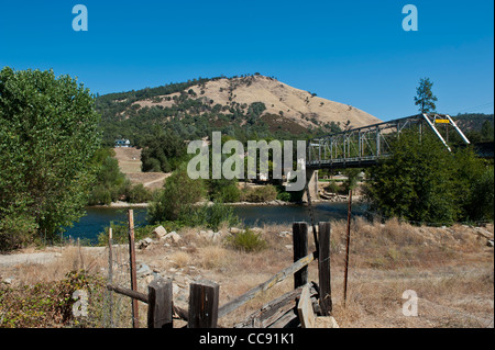 Bridge near Sutter's Mill, sight of the California Gold Strike, Marshall State Park - Stock Photo