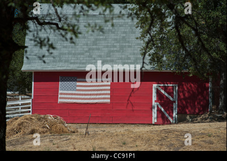 Farmhouse near Sutters mill at Marshall Gold Discovery Site Coloma California - Stock Photo
