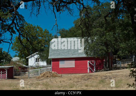 Farmhouse near Sutters Mill at Marshall Gold Discovery Site Coloma, California, USA - Stock Photo
