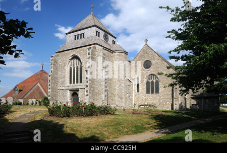 The Abbey Church of St. Mary the Virgin & St. Sexburgha, in Minster-on-Sea, Kent, England