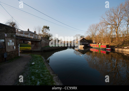 Dry dock at Bulbourne Junction, Grand Union Canal, Herts UK - Stock Photo