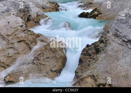 Mountain Stream, Rissbach, Hinterriss, Karwendel, Tyrol, Austria - Stock Photo