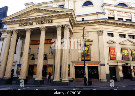 the lyceum theatre showing the lion king London England UK United kingdom - Stock Photo