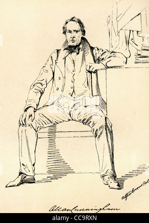 Allan Cunningham, 1784 – 1842. Scottish poet and author. - Stock Photo