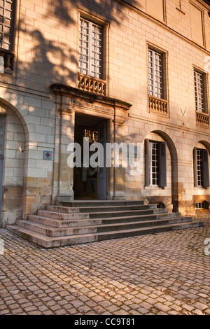 The entrance to the Musee Des Beaux Arts or museum of fine arts in Tours, France. It is also listed as a Monument - Stock Photo