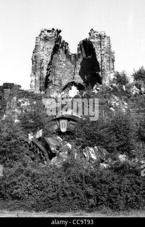 Ruin of the Frauenkirche on the New market in Dresden - Church of Our Lady. - Stock Photo