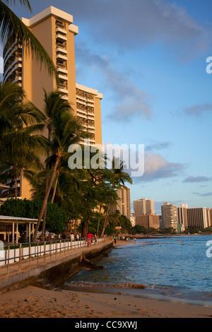 Waikiki Beach, Honolulu, Hawaii. - Stock Photo