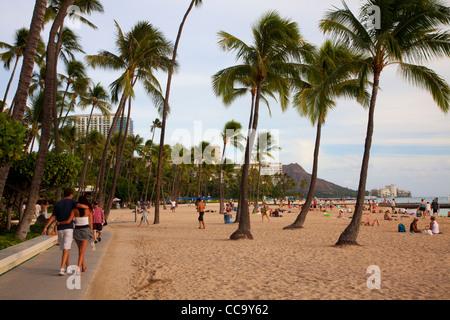 Waikiki, Honolulu, Hawaii. Stock Photo