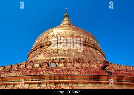 Chedi of Dhammayazika Paya (Pagoda),  Bagan (Pagan), Myanmar (Burma) - Stock Photo