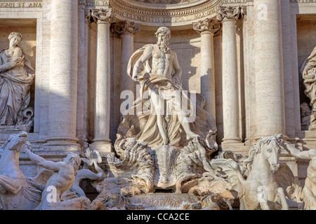 Trevi fountain in Rome - Stock Photo