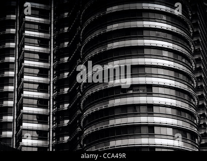 Modern Architecture. The Petronas Twin Towers in Kuala Lumpur in Malaysia in Southeast Asia. Architect Cesar Pelli - Stock Photo