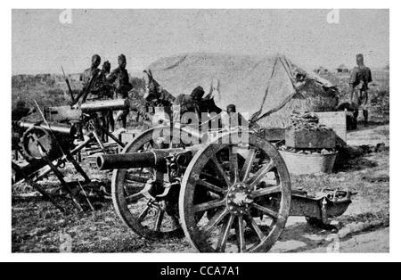1915 British spoils of war ammunition dump ammo explosives artillery shells capture victory enemy loss field cannon - Stock Photo