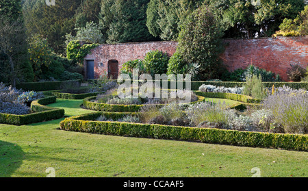Newstead Abbey, Nottinghamshire. The Small Walled Garden in autumn. Newstead Abbey was the ancestral home of Lord - Stock Photo