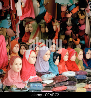 Mannequins displaying the Islamic Hijab in Kuala Lumpur in Malaysia in Far East Southeast Asia. Fashion Clothes - Stock Photo