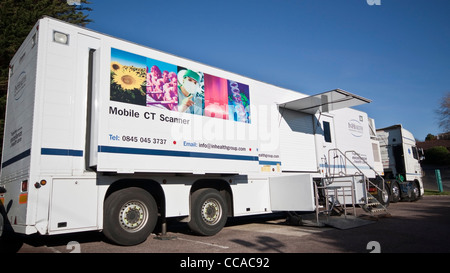Mobile NHS CT CAT Scanner - Stock Photo