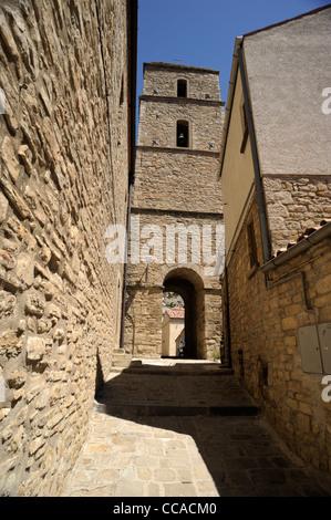 italy, basilicata, dolomiti lucane regional park, pietrapertosa, chiesa matrice di san giacomo maggiore - Stock Photo