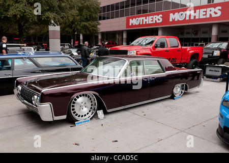 Rebuilt 1963 Lincoln Continental low rider with suicide doors - Stock Photo