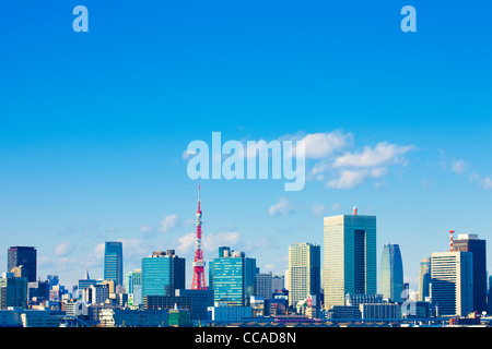 Tokyo Skyline with Tokyo Tower - Stock Photo
