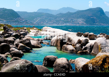 Boulders beach, Simon's Town, Cape Town, South Africa - Stock Photo