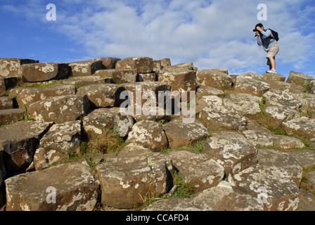 Giant's Causeway, Coastal Road, County Antrim, Ulster, North Ireland, UK, Europe. - Stock Photo