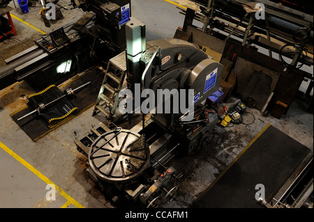 industrial milling drilling machine in the railway workshops of the national railway museum york england uk - Stock Photo