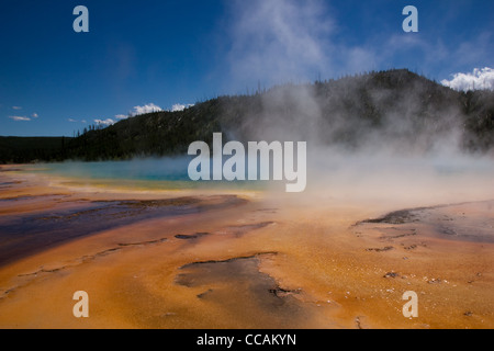 The Prismatic Spring located in Yellowstone National Park. - Stock Photo