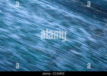 Blue running water - Stock Photo