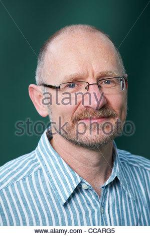 James Robertson, Scottish Novelist and writer of the book And the Land Lay Stil The Edinburgh International Book - Stock Photo