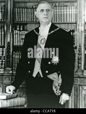 CHARLES DE GAULLE (1890-1970)  as French President in 1959 - Stock Photo