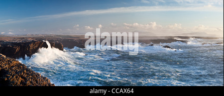 Storm waves crashing against the cliffs of Belmullet, County Mayo, Ireland. - Stock Photo