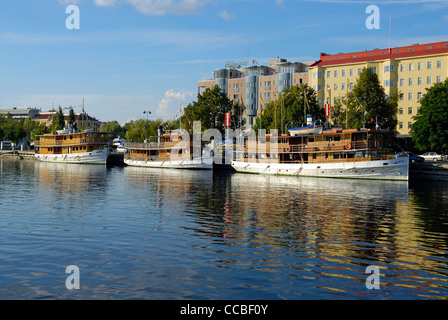 Marina, Savonlinna, Southern Savonia, Finland, Scandinavia, Europe - Stock Photo