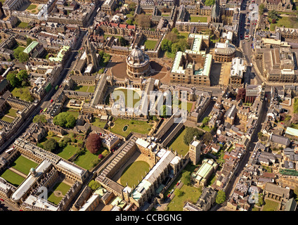 aerial view of Oxford University from 1991 - Stock Photo