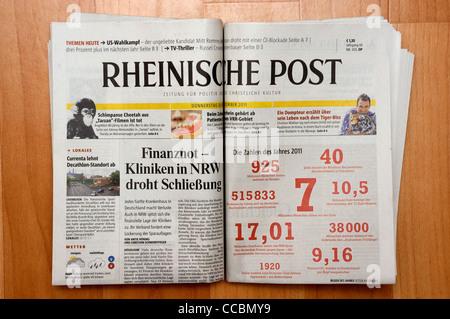 Rheinische Post (German) newspaper - Stock Photo