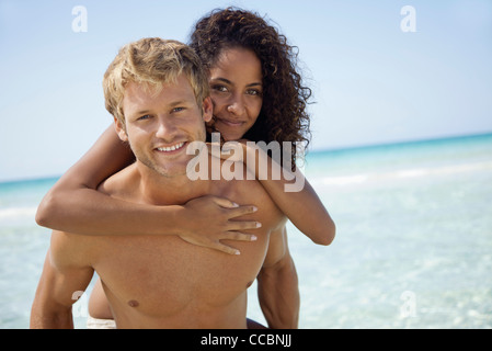 Couple at the beach, portrait - Stock Photo