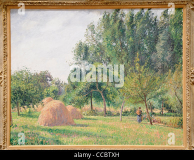 Haystacks, Morning, Eragny, 1899, by Camille Pissarro, - Stock Photo