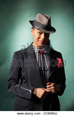 Pauline Black, at The Edinburgh International Book Festival 2011 - Stock Photo