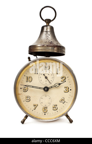 Antique bedside alarm clock, made in Wurttemberg, Germany