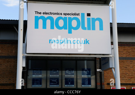Maplin The Electronics Specialist Shop, Cambridge, England, UK - Stock Photo