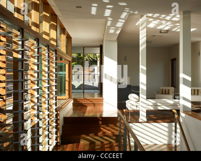 House in Manley, Sydney, Australia, by Assemblage - Peter Chivers Architect, windows and day room - Stock Photo