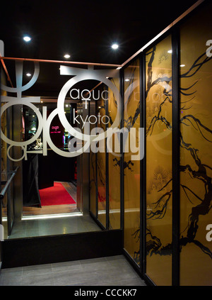 Aqua Restaraunt, London, Glamorous, 2011-lift - Stock Photo