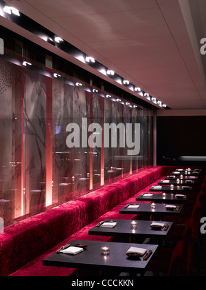 Aqua Restaraunt, London, Glamorous, 2011-seating detail - Stock Photo