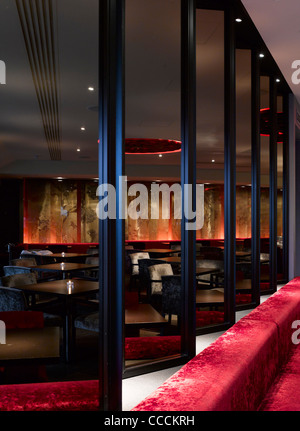 Aqua Restaraunt, London, Glamorous, 2011-seating - Stock Photo