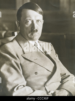 Adolf Hitler (1889-1945). Leader of the National Socialist German Workers Party. Photography. - Stock Photo
