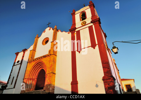 Portugal, Algarve: Main facade of the Cathedral 'Sé Catedral' of Silves - Stock Photo