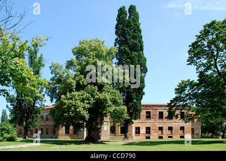 Ruins of the baroque Palace of the Wettin in Dahme in the Mark Brandenburg. - Stock Photo